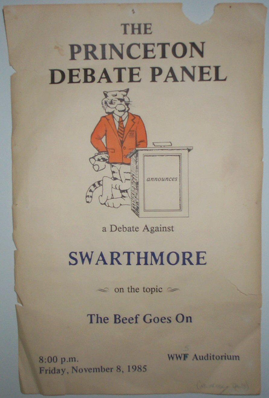 Princeton / Swarthmore Debate Poster